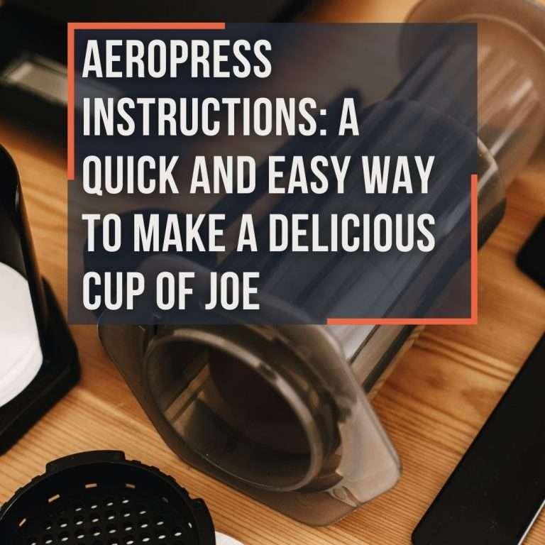 aeropress instructions